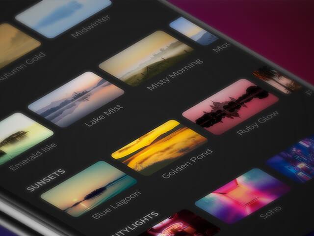 philips hue app laat scenes zien