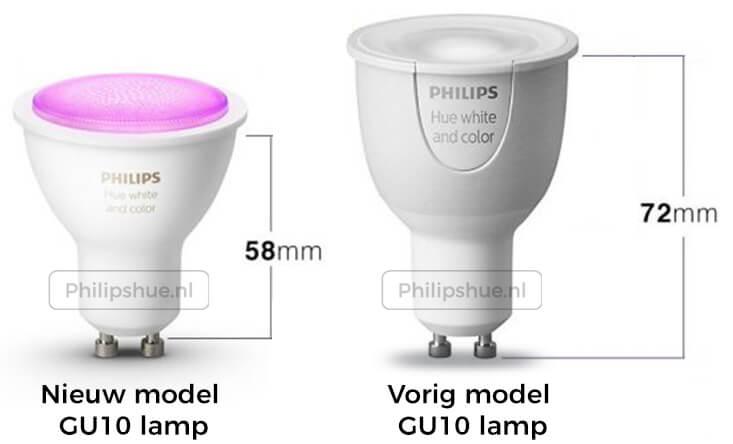 Philips hue gu10 afmetingen