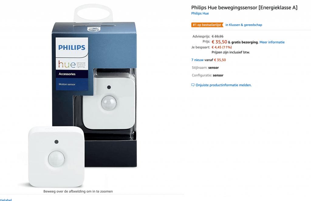 Philips hue aanbiedingen amazon sensor
