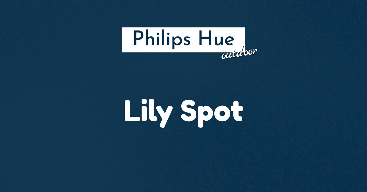 Philips hue lily spot ban