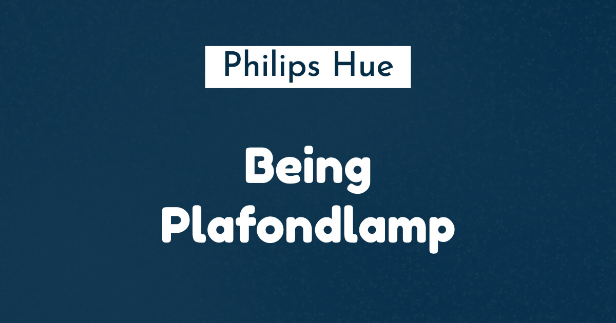 philips hue being plafondlamp
