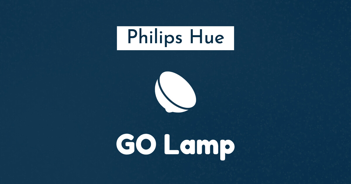 philips hue go lamp blue white