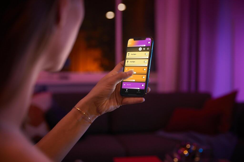 Philips hue bluetooth app smartphone