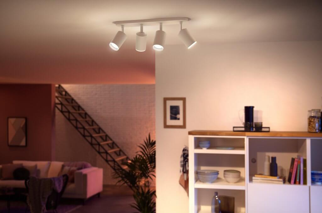 Philips hue fugato wit 4 spot