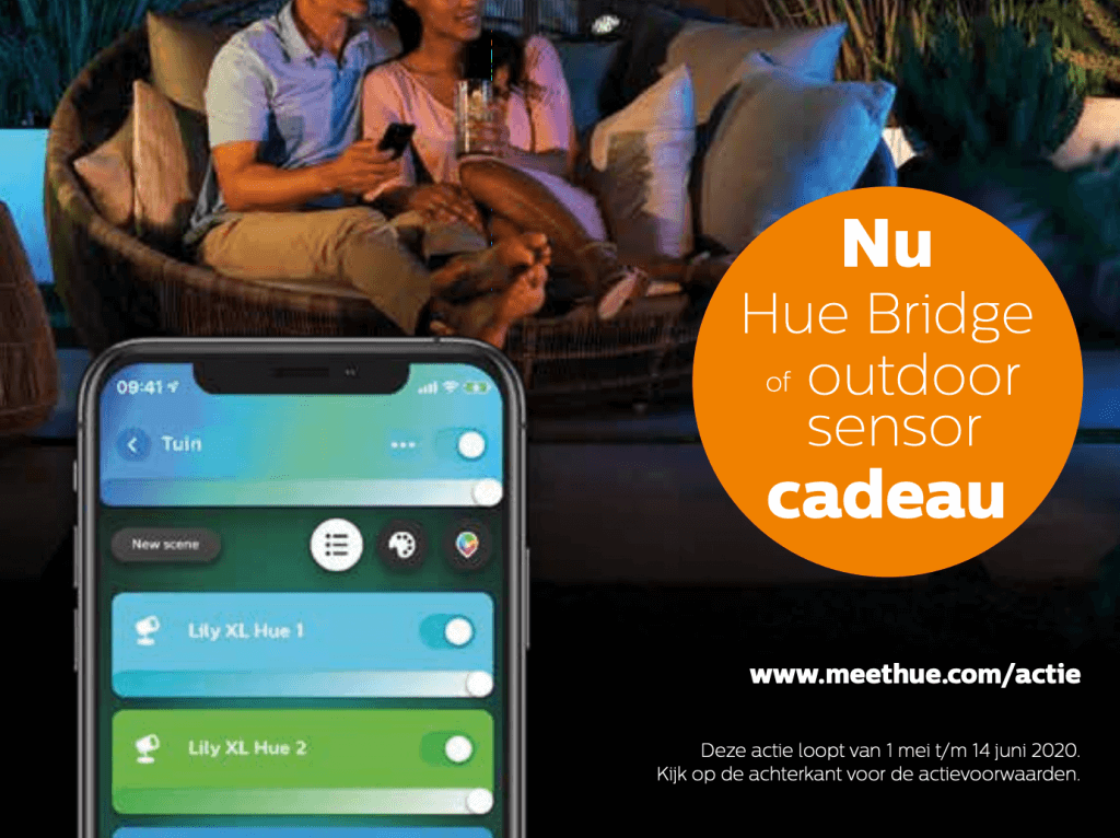 philips hue aanbieding gratis bridge of sensor