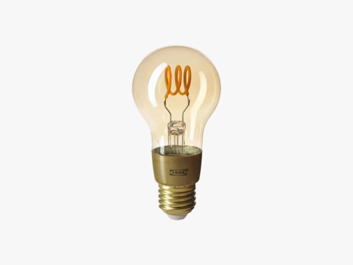 Tradfri globe lamp bruin helder glas