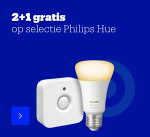 Philips hue actie 2+1 gratis