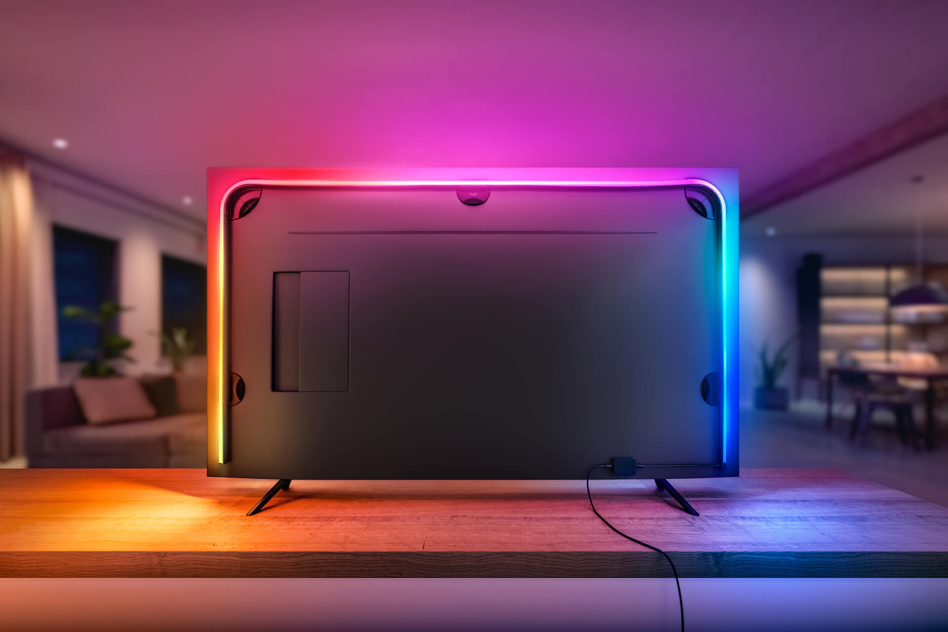 Philips hue gradient lightstrip televisie