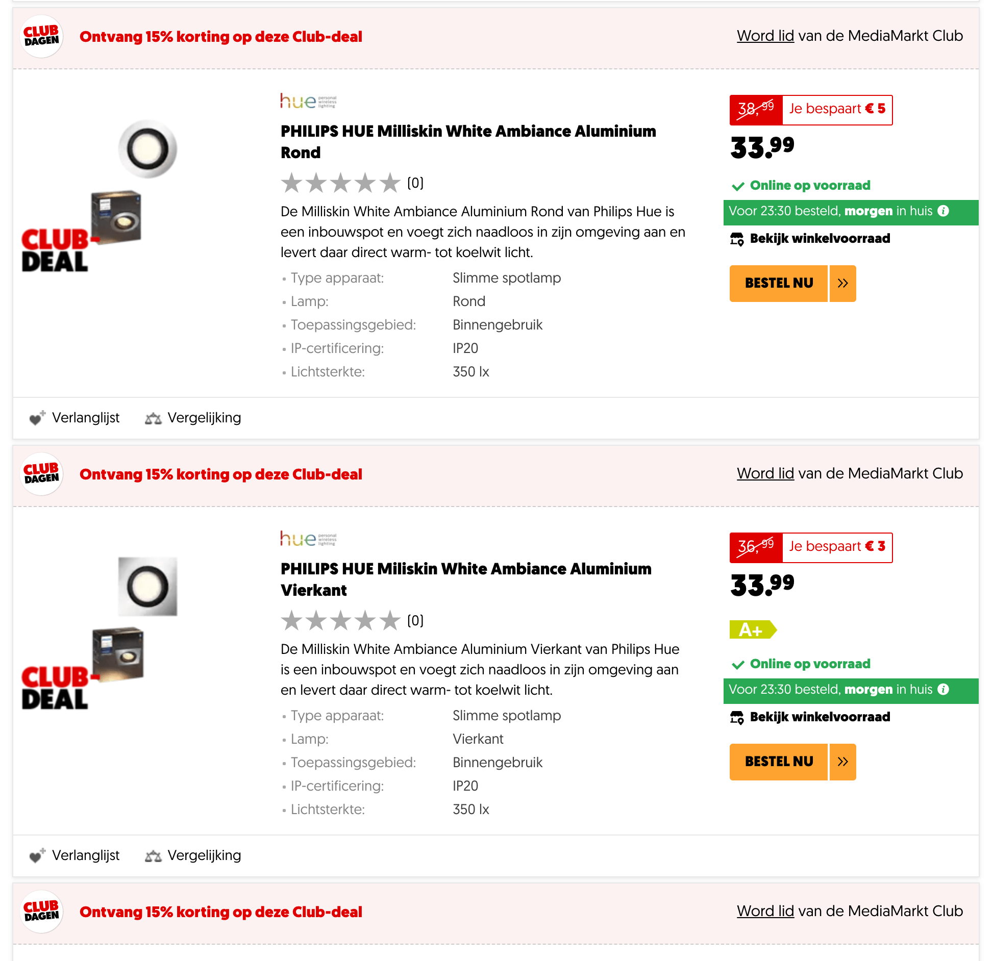 MediaMarkt club deals kortingen