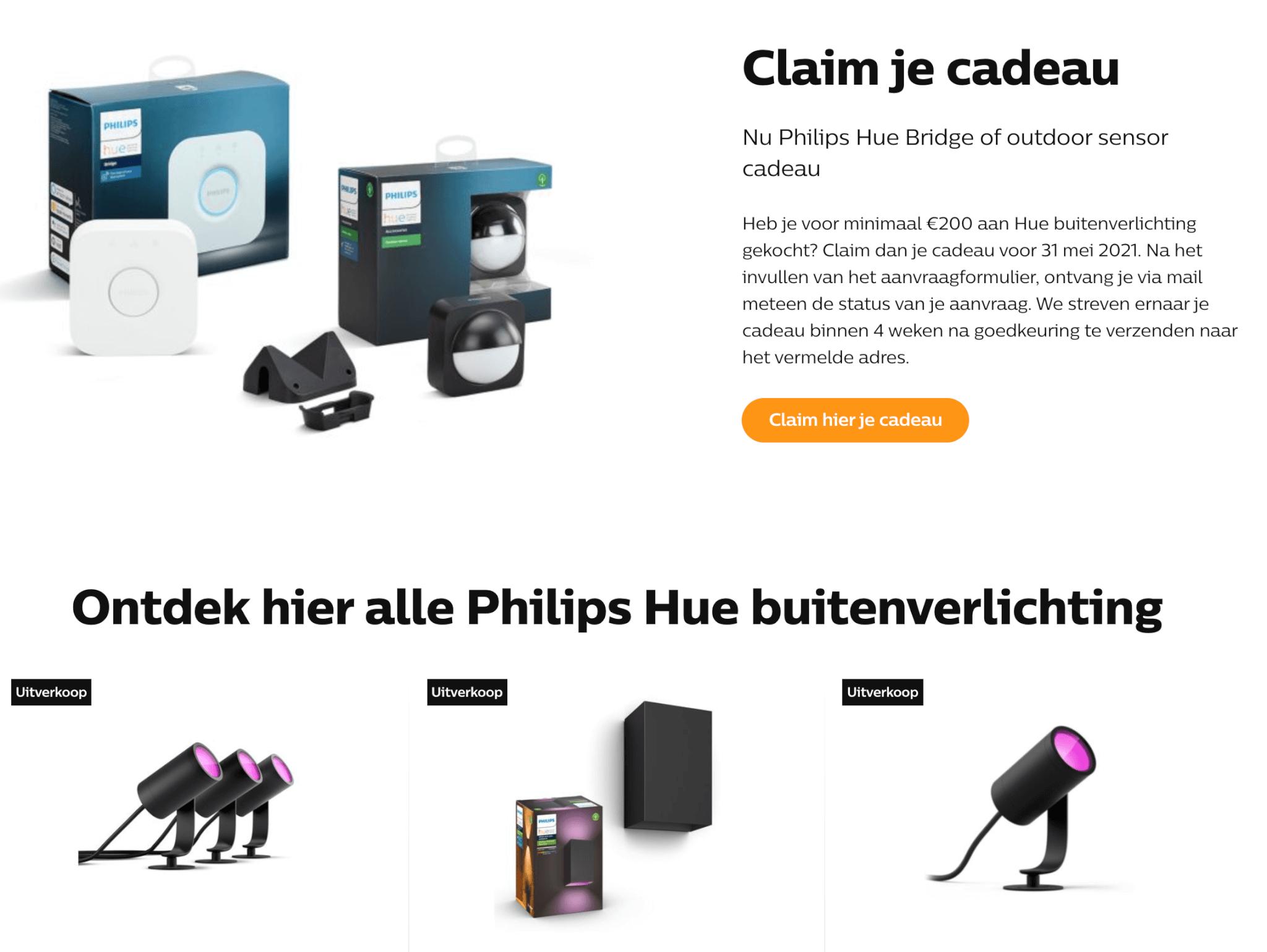 Philips hue claim je cadeau 2021