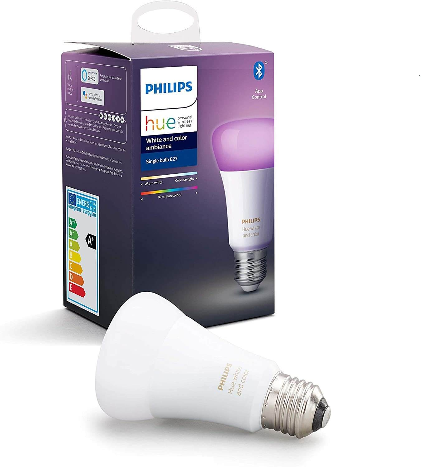Philips hue color white ambiance e27 lamp