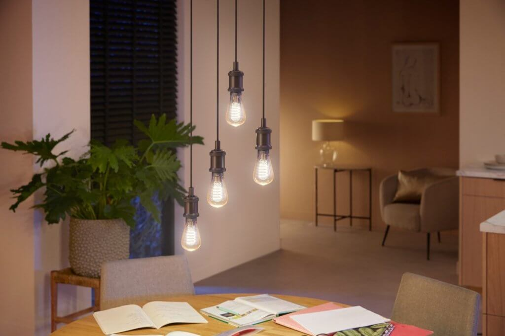 Philips hue filament white ambiance sfeer